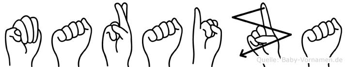 Maraiza in Fingersprache für Gehörlose