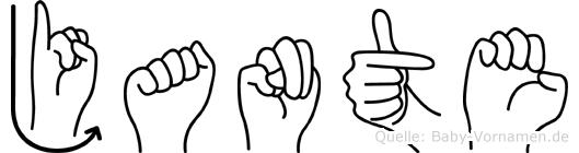 Jante in Fingersprache für Gehörlose