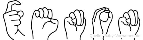 Xenon in Fingersprache für Gehörlose