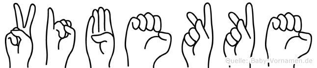 Vibekke im Fingeralphabet der Deutschen Gebärdensprache