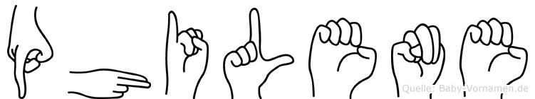 Philene in Fingersprache für Gehörlose