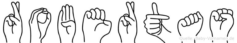 Robertas im Fingeralphabet der Deutschen Gebärdensprache