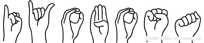 Iyobosa im Fingeralphabet der Deutschen Gebärdensprache