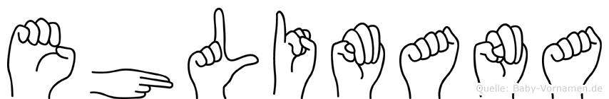 Ehlimana in Fingersprache für Gehörlose