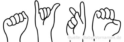 Ayke in Fingersprache für Gehörlose