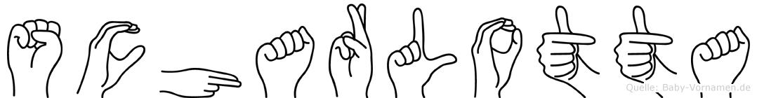 Scharlotta in Fingersprache für Gehörlose