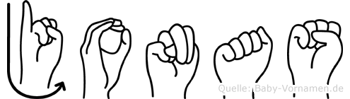 Jonas in Fingersprache für Gehörlose