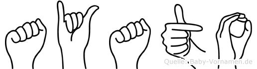 Ayato in Fingersprache für Gehörlose