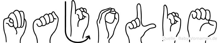Majolie in Fingersprache für Gehörlose