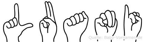 Luani in Fingersprache für Gehörlose