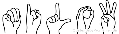 Milow im Fingeralphabet der Deutschen Gebärdensprache