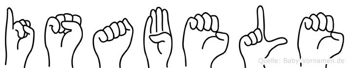 Isabele in Fingersprache für Gehörlose