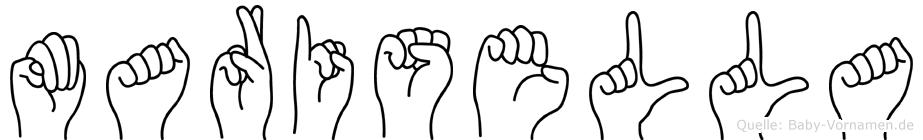 Marisella im Fingeralphabet der Deutschen Gebärdensprache