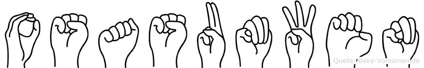 Osasumwen im Fingeralphabet der Deutschen Gebärdensprache