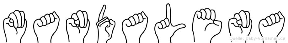 Mandalena in Fingersprache für Gehörlose