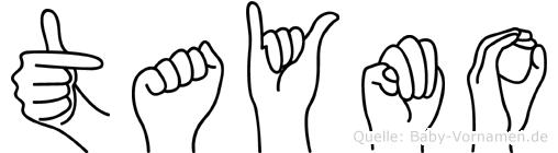 Taymo im Fingeralphabet der Deutschen Gebärdensprache