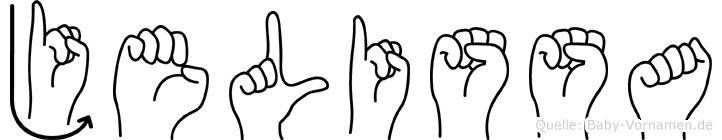 Jelissa im Fingeralphabet der Deutschen Gebärdensprache