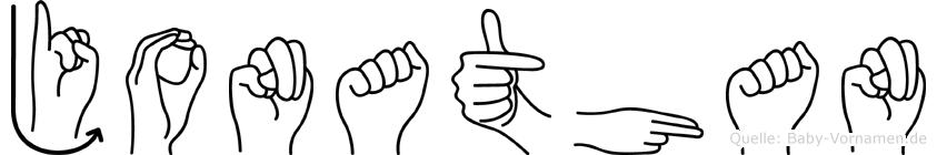 Jonathan in Fingersprache für Gehörlose