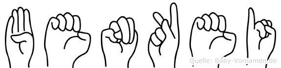 Benkei im Fingeralphabet der Deutschen Gebärdensprache