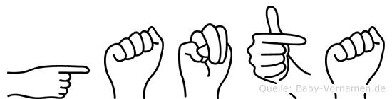 Ganta in Fingersprache für Gehörlose