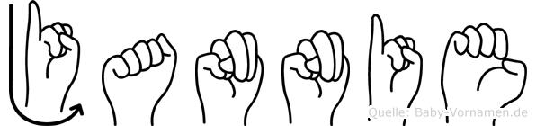 Jannie im Fingeralphabet der Deutschen Gebärdensprache