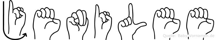 Jenilee in Fingersprache für Gehörlose