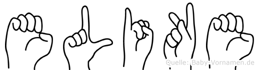 Elike im Fingeralphabet der Deutschen Gebärdensprache