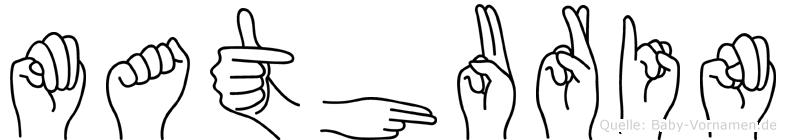 Mathurin in Fingersprache für Gehörlose