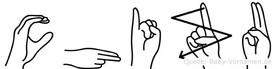 Chizu im Fingeralphabet der Deutschen Gebärdensprache