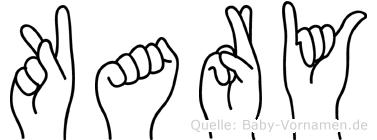 Kary im Fingeralphabet der Deutschen Gebärdensprache