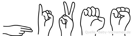 Hives in Fingersprache für Gehörlose