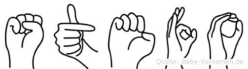 Stefo im Fingeralphabet der Deutschen Gebärdensprache