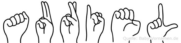 Auriel im Fingeralphabet der Deutschen Gebärdensprache
