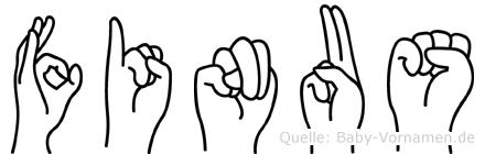 Finus in Fingersprache für Gehörlose