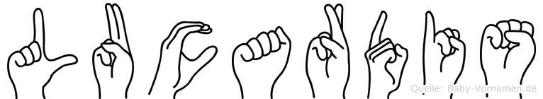 Lucardis in Fingersprache für Gehörlose