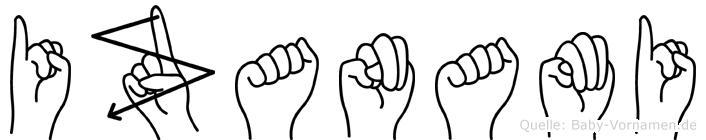 Izanami in Fingersprache für Gehörlose