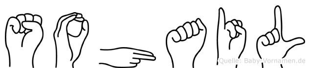 Sohail im Fingeralphabet der Deutschen Gebärdensprache