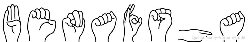 Benafsha im Fingeralphabet der Deutschen Gebärdensprache