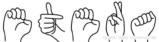 Etera im Fingeralphabet der Deutschen Gebärdensprache