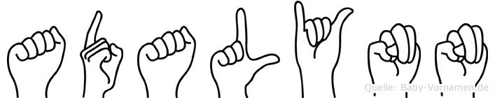 Adalynn im Fingeralphabet der Deutschen Gebärdensprache