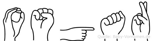 Osgar im Fingeralphabet der Deutschen Gebärdensprache