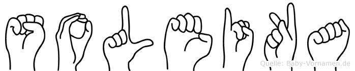 Soleika im Fingeralphabet der Deutschen Gebärdensprache