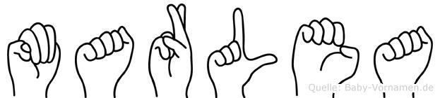 Marlea in Fingersprache für Gehörlose