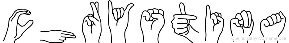 Chrystina in Fingersprache für Gehörlose