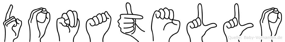 Donatello im Fingeralphabet der Deutschen Gebärdensprache