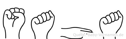Saha in Fingersprache für Gehörlose