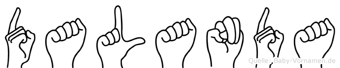 Dalanda in Fingersprache für Gehörlose