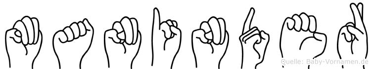 Maninder in Fingersprache für Gehörlose