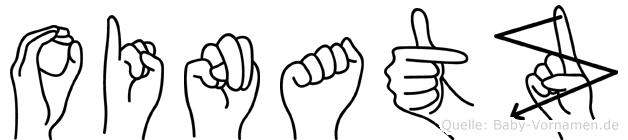 Oinatz im Fingeralphabet der Deutschen Gebärdensprache