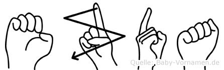 Ezda in Fingersprache für Gehörlose